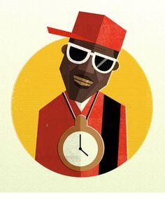 0d44fc5b3a8 Hip Hop Head Portraits by Dale Edwin Murray
