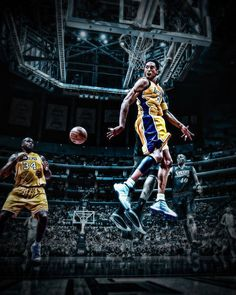 Kobe and Shaq, amazing picture! Black Mamba, Basketball Legends, Basketball Players, Basketball Photos, Shaquille O'neal, La Lakers, Lakers Team, Dodgers, Shaq Dunk