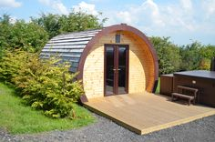 Shingles are really versatile and easy to install, these glamping pods used them for a really modern look