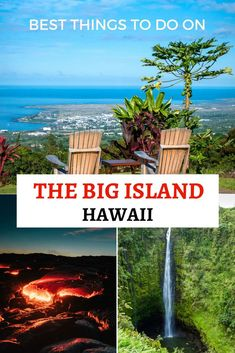 Best Things To Do On The Big Island Of Hawaii I've wanted to visit the Big Island of Hawaii for years, mainly because of the Kilauea volcano. But there's so many other cool things to do there too! Here are some of my favorites. Honeymoon Vacations, Hawaii Honeymoon, Hawaii Vacation, Hawaii Travel, Travel Usa, Travel Guide, Hawaii Trips, Travel Ideas, Kona Hawaii