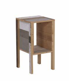 SCRAPWOOD SIDE TABLE