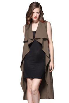 05bfc96962 Good price 2016 Autumn Fashion Turn-down Collar Open Stitch Sleeveless  Jackets Vest Solid Blue
