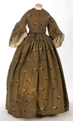 Day dress ca. 1850's