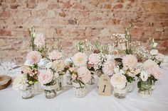 Bridal Shower Decorations Centerpieces - New ideas Floral Wedding Decorations, Rustic Wedding Centerpieces, Bridal Shower Decorations, Wedding Table, Wedding Flowers, Dream Wedding, Wedding Day, Table Flowers, Floral Arrangements