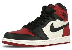 "NIKE AIR JORDAN 1 RETRO HIGH OG ""BRED TOE"" [GYM RED / BLACK-SUMMIT WHITE] 555088-610"