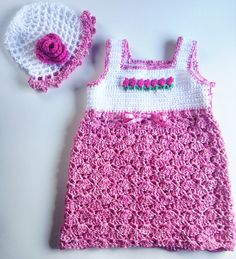 I'm selling Baby's Pretty Pink Roses Sundress and Matching Hat - $35.00 #onselz