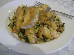 Honey Mustard Chicken and Brown Rice Pilaf with Red Pepper and Kale - The Kitchen Table - The Eat-Clean Diet®