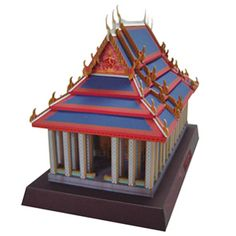 The Emerald Buddha Temple from PaperModelz.