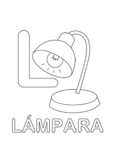 spanish alphabet coloring page l