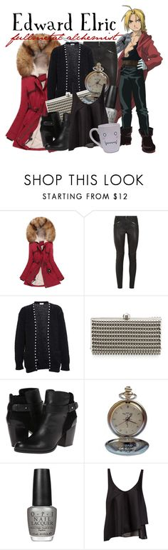 """""""[Fullmetal Alchemist] Edward Elric"""" by animangacouture ❤ liked on Polyvore featuring Mode, Givenchy, Yves Saint Laurent, Sondra Roberts, Dune, OPI, Pull&Bear, women's clothing, women's fashion und women"""