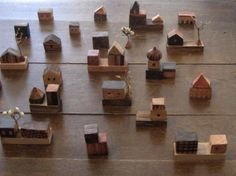 unfortunately, this site is all in japanese so i can't find out how to acquire these teeny tiny houses.
