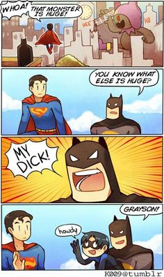 Batman, Superman, Dick Grayson