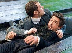 "Saved by Watson! (Jude Law, Robert Downey Jr., ""Sherlock Holmes"")"