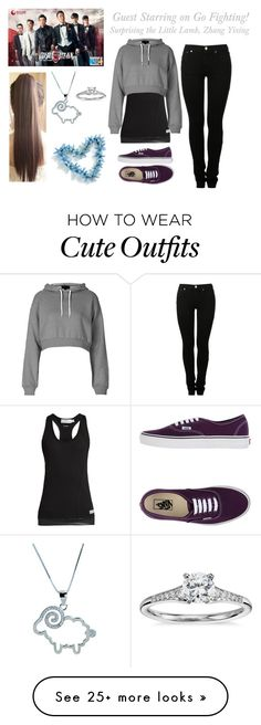 """My Heart is Never Not with You (Zhang Yixing Love Story) Outfit #1"" by lola-twfanmily on Polyvore featuring MM6 Maison Margiela, adidas, Blue Nile, Topshop, Vans and Metal Mixology"