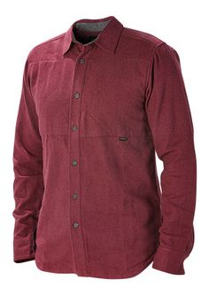 Palmer L/S Shirt - Burgundy Heather | Nixon Mens Tanks  Tees