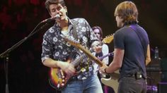 John Mayer with Keith Urban - Don't Let Me down (2013 Crossroads Guitar Festival)