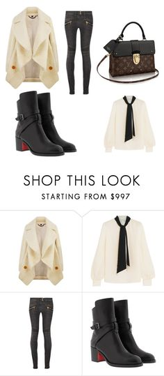 """""""Untitled #398"""" by beccas-boutique ❤ liked on Polyvore featuring Burberry, Lanvin, Balmain and Christian Louboutin"""