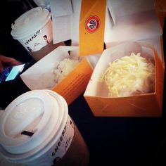 J.CO Donuts w/ Coffee & Hot chocolate~ :9 #cheese