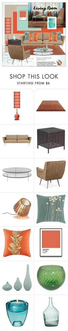 """""""Modern Classic Living Room"""" by rainie-minnie ❤ liked on Polyvore featuring interior, interiors, interior design, home, home decor, interior decorating, Design Within Reach, Zuo, SCP and Lotta Jansdotter"""