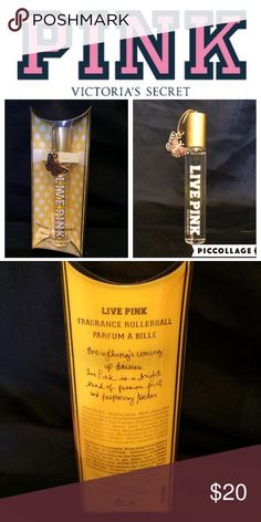 Rare Pink Victoria's Secret LIVE fragrance roller New in box LIVE PINK fragrance rollerball with butterfly charm. Discontinued PINK Victoria's Secret Other