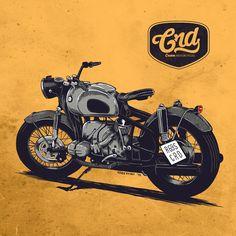 BMW R69S Cafe Racer Dreams @menze kwint illustrations
