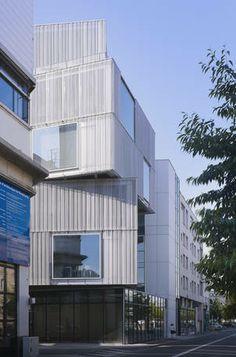 Strassenfassade der Architekturschule in Strassburg Blick von Westen