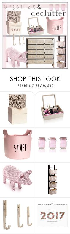 """""""Organize and Declutter!"""" by pat912 ❤ liked on Polyvore featuring interior, interiors, interior design, home, home decor, interior decorating, Nomess, Kilner, Winsome and Rifle Paper Co"""