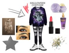 """""""Untitled #15"""" by mchelclfford on Polyvore featuring Glamorous, Dr. Martens, Eos, Victoria's Secret, Topshop, Ilia, Halloween, 60secondstyle and animalcostume"""