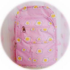 Kawaii sweet poached eggs backpack