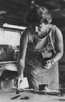 Helen Frankenthaler (1928-2011) abstract-expressionist artist. Major contributor to postwar American painting.