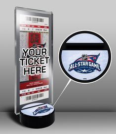 2015 NHL All-Star Game Hockey Puck Base Ticket Display Stand - Columbus  Blue Jackets 76afa8a4f
