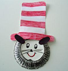 Paper Plate Cat In The Hat Craft from Kiboomu