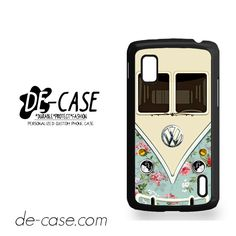 Modern Floral Vw Retro Bus For Google Nexus 4 Case Phone Case Gift Present YO