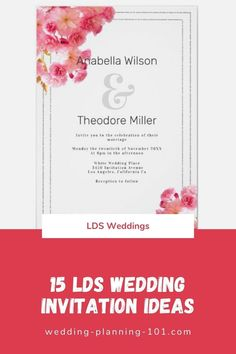Get ideas for Traditional wedding invitations today! #LDSWeddingInvitations #TraditionalWeddingInvitations #FloralWeddingInvitations #ElegantWeddingInvitations #WhiteWeddingInvitations