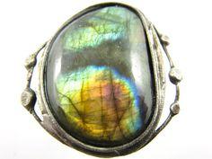 vega  large labradorite ring by callistojewelry on Etsy