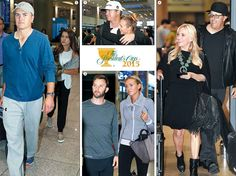 Clockwise from left, Jordan Spieth and his girlfriend Annie Verret, Jimmy Walker and his wife Erin, Phil Mickelson and his wife Amy and Dustin Johnson and his fiancée Paulina Gretzky