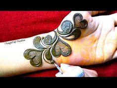 Heart Shape New Unique Stylish Mehndi Design for Hand |Easy Mehndi Design |Thought of Creation - YouTube