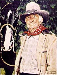 Norman Rockwell Paintings - Google Search...THE ACTOR WITH A DISTINCTIVE VOICE. Walter Brennan