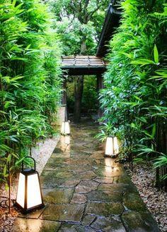 Beautiful Modern Japanese Garden Landscape Ideas – Decorating Ideas - Home Decor Ideas and Tips Modern Japanese Garden, Japanese Garden Landscape, Japanese Gardens, Japanese Garden Backyard, Japanese Garden Lighting, Japanese Garden Lanterns, Japanese Garden Style, Japanese Lamps, Japanese Bamboo