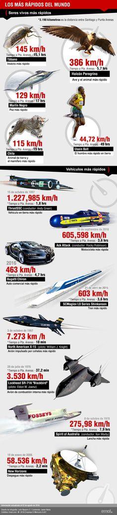 Infografía | Máquinas vs. Seres vivos: Los más rápidos del mundo | Emol.com
