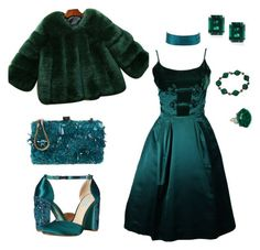 """""""#E is for EMERALD GREEN"""" by andrea-jones-4 ❤ liked on Polyvore featuring Betsey Johnson, Elie Saab, Oleg Cassini, Charlotte Russe and CARAT* London"""