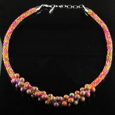 Kumihimo Hot Summer Necklace by Luckysammy on Etsy, $65.00