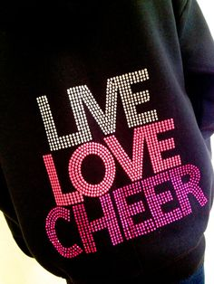 Live Love Cheer Rhinestone Youth Girls Hoodie Jacket by Bowfriendz, $29.99