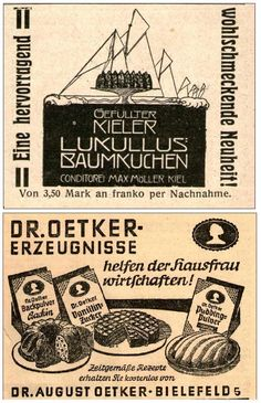 24 x Original-Werbung/Anzeige 1905 bis 1969 - KUCHEN / VERSCHIEDENE MARKEN | eBay
