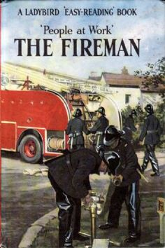 THE FIREMAN Vintage Ladybird Book People at Work Series 606B