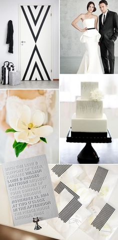 Modern black + white #wedding inspiration...