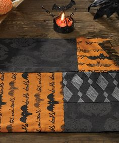 Take a look at this Halloween Haunts Place Mat - Set of Four by Park Designs on #zulily today!