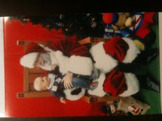 Little Max and Santa.