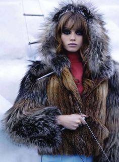 Model: Abbey Lee Kershaw | Photographer: Karl Lagerfeld - for Harper's Bazaar, Oct 2010