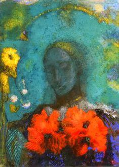 Le Sémaphore: Fleur de nuit by Odilon Redon.